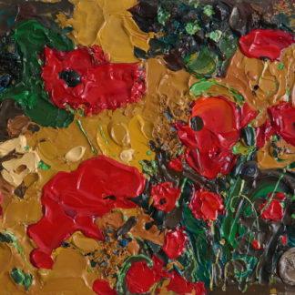 Любовь красного к золотому – 40х50см