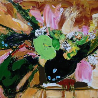 Зеленая композиция 70х50см