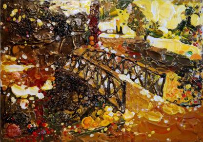 Мост жизни в праздничную осень – 80х60см