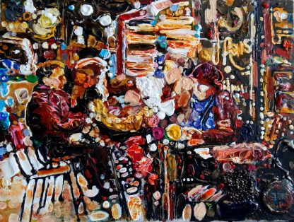 Парижское кафе из серии Признание в любви к Парижу - 39х51см
