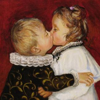 Первый поцелуй 40х50см