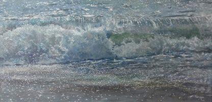 Солнце на воде картина маслом 128х88см