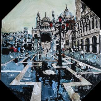 Картина «Венеция площадь Сан Марко» — 80х70 см. Холст, масло.