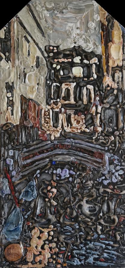 Картина «Трагическая маска Венеции 2020» — 86х40 см. Холст, масло.
