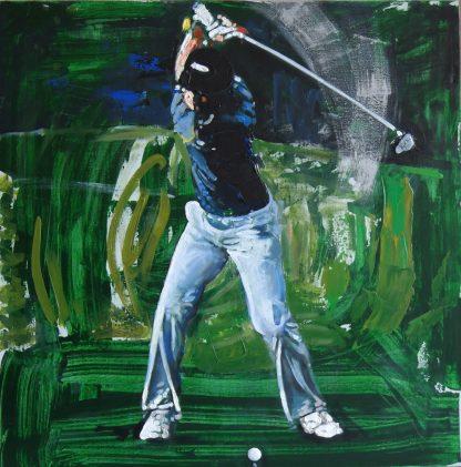 Картина Гольф Мах (swing-forward)