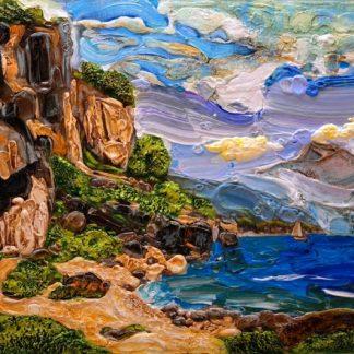 «На берегу» из цикла (Итальянские мотивы) — 71см х 100 см